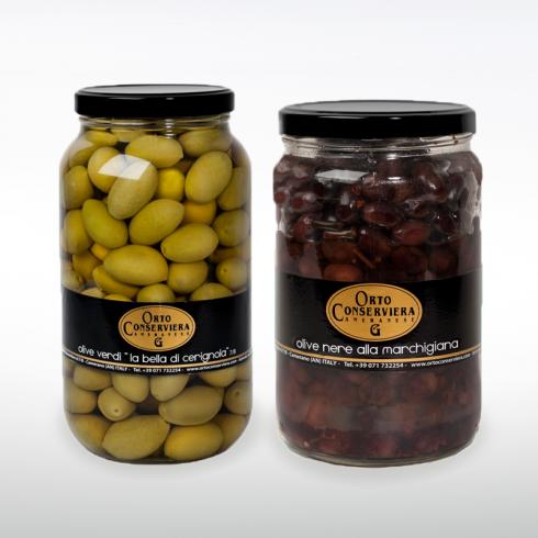 Olive Verdi Cerignola e Nere Marchigiane Make Italy